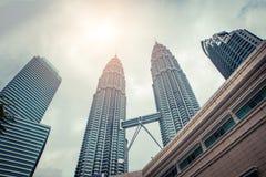 Petronas Twin Towers in Kuala Lumpur. Modern skyscraper architecture. Stock Image