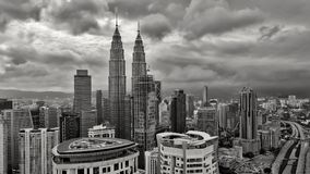 Petronas Twin Towers - Kuala Lumpur view from Face Platinum Suites stock image