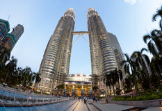 Petronas Twin Towers - main architectural landmark of KL and Malaysia Stock Images