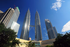 Petronas Twin Towers in Malaysia Royalty Free Stock Photography