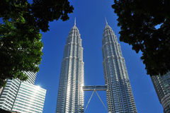 Petronas Twin Towers in Malaysia Royalty Free Stock Photos