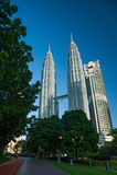 Petronas Twin Towers in Malaysia Stock Image