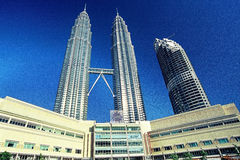 Petronas Twin Towers and Maxis Tower Royalty Free Stock Photography