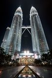 Petronas twin towers at night Stock Photography