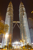 Petronas Twin Towers at night Royalty Free Stock Images