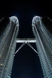 Petronas twin towers in the night Royalty Free Stock Photos