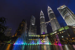 Petronas Twin Towers at Night, Kuala Lumpur Royalty Free Stock Images