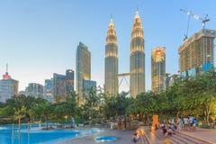 Petronas Twin Towers at night, Kuala lumpur, Malaysia Royalty Free Stock Photography