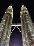 Petronas twin towers at night Royalty Free Stock Image