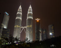 Petronas Twin Towers at night Royalty Free Stock Photo