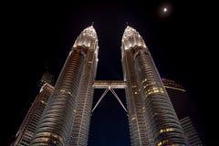 Petronas Twin Towers at night, Kuala Lumpur - Malaysia royalty free stock images