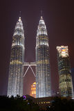 Petronas Twin Towers at night Royalty Free Stock Photography