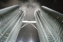 Petronas Twin Towers at night Royalty Free Stock Image