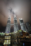 Petronas Twin Towers at night Stock Image