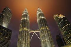 Petronas Twin Towers. Nightscape of Petronas Twin Towers Stock Image