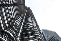 Petronas twin towers. Once the world's tallest, these 88-story towers bear a modern Islamic design Royalty Free Stock Photo