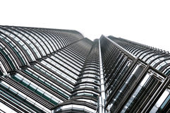 Petronas twin towers. Once the world's tallest, these 88-story towers bear a modern Islamic design Stock Image