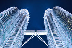 Petronas twin towers. Once the world's tallest, these 88-story towers bear a modern Islamic design Stock Photography