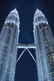 Petronas twin towers. Once the world's tallest, these 88-story towers bear a modern Islamic design Stock Photo