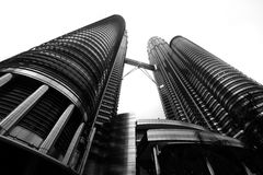 Petronas twin towers. Once the world`s tallest, these 88-story towers bear a modern Islamic design Stock Photography