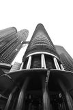 Petronas twin towers. Once the world`s tallest, these 88-story towers bear a modern Islamic design Stock Photo