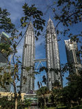 Petronas twin towers. A shot of the famous Petronas twin towers taken from the park Stock Photography