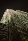 Petronas Twin Towers Skyscraper at night. Royalty Free Stock Image