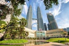 Petronas Twin towers and Suria KLCC. Royalty Free Stock Photo