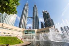 Petronas Twin towers and Suria KLCC. Stock Photos