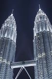Petronas Twin Towers2. Night view of the Petronas Twin Towers in Kuala Lumpur Malaysia Stock Image