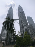 The Petronas Twins Tower - amazing height of 452 meters - Kuala Lumpur - Malaysia. Stock Photography