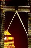 Petronas Twins Towers footbridge Stock Photo