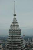 Petronas wierza i KL wierza Zdjęcia Stock