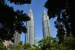 Petronastorens Kuala Lampur Malaysia royalty-vrije stock foto's