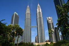 Petronastorens Kuala Lampur Malaysia royalty-vrije stock fotografie