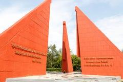 Petropavl Kasakhstan - Augusti 11, 2016: Den eviga flamman Arkivbild