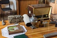 PETROPAVL, KAZACHSTAN - JULI 24, 2015: Tentoongestelde voorwerpen van het Museum van het Leven en Onderdrukking stock foto's