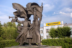 PETROPAVL, KAZAKHSTAN - JULY 24, 2015: Memorial of the memory of the kazakhstan people who fought during the Second World War. Petropavl is a city in northern royalty free stock photos