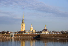 Petropavlovka. Peter And Puol Cathedral at St.Petersburg stock image