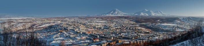 Petropavlovsk-Kamchatsky cityscape Stock Photography