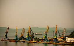 Petropavlovsk-Kamchatsky, seaport Royalty Free Stock Photography