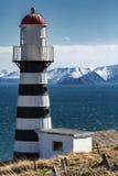 Petropavlovsk Lighthouse on coast of Pacific Ocean. Petropavlovsk-Kamchatsky City Stock Photography
