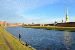 Petropavlovskaja forteca w St Petersburg Rosja zdjęcie stock