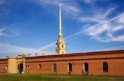petropavlovskaya крепости стоковое изображение rf