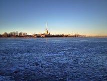Petropavlovskaya tower in Saint Petersburg Russia Royalty Free Stock Photo