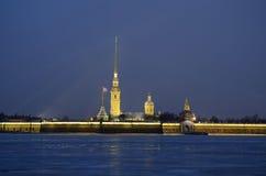 Petropavlovskaya fästning Arkivbilder