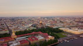 Petropavlovskaya krepost της Άγιος-Πετρούπολης απόθεμα βίντεο