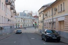 Petropavlovsky Street and Khitrovskaya Square in Moscow Stock Images