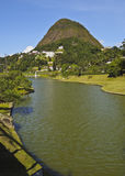 Petropolis in Brazil. Brazil, State of Rio de Janeiro, Petropolis, View of the The Quitandinha Lake Stock Photos