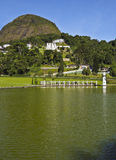 Petropolis in Brazil. Brazil, State of Rio de Janeiro, Petropolis, View of the The Quitandinha Lake Royalty Free Stock Image